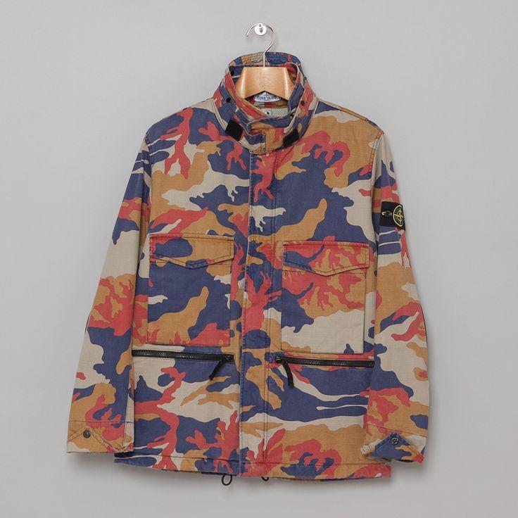Stone Island: Camo M65 Jacket (Beige)