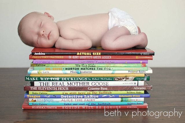 oooh yes. newborn and books