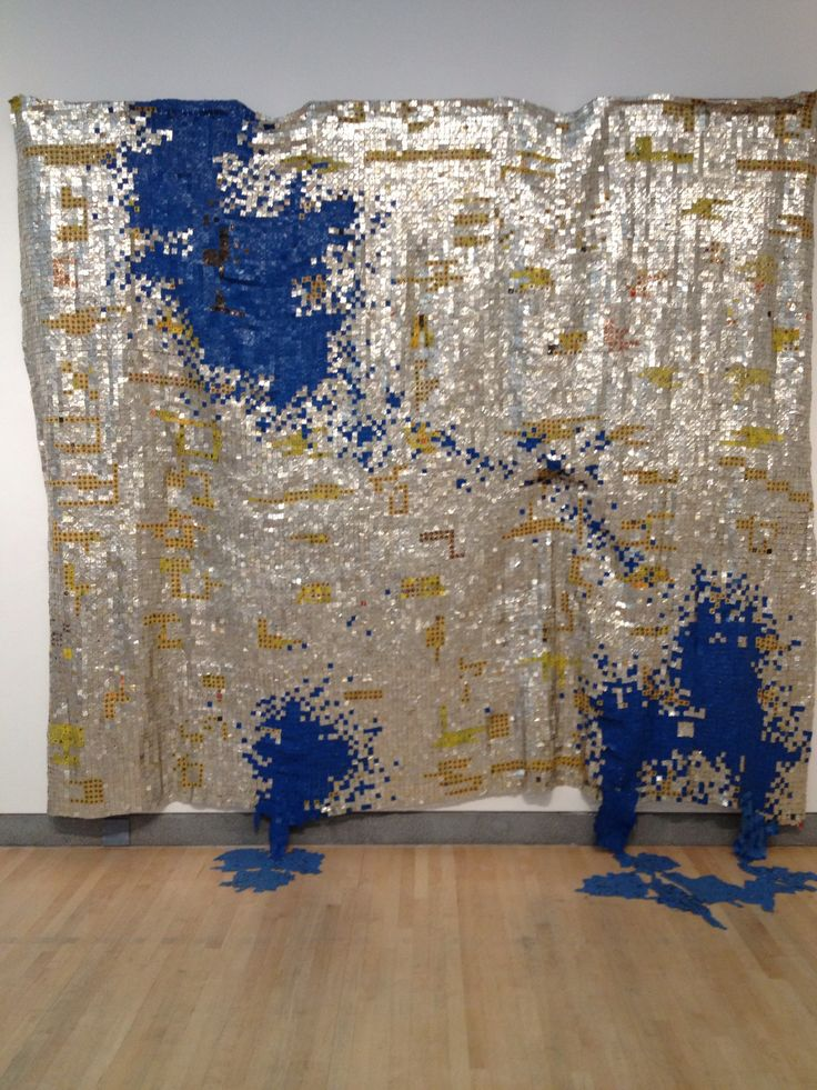 El Anatsui takes debris from everyday life and turns it into gorgeous, majestic tapestries.