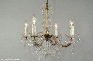 Kristallen Maria Theresia kroonluchter 26631 bij Van der Lans Antiek. Meer kristallen lampen op www.lansantiek.com