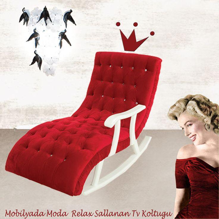"""Mobilyada Moda """"Relax"""" Sallanır TV Koltuğu, evlerinde konfor ve şıklık arayanlara özel...  Dilediğiniz renkte çalışılacaktır..."""