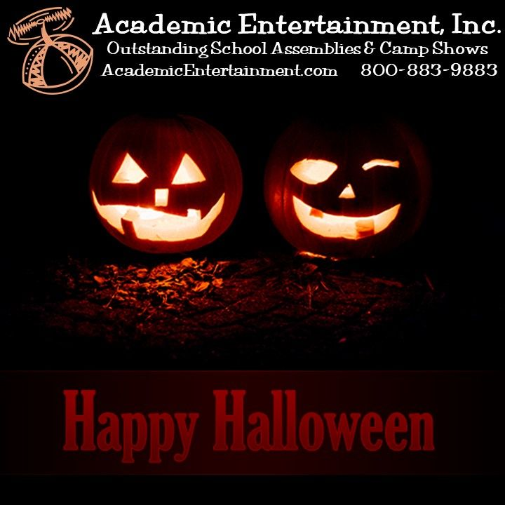 Happy Halloween from all of us at Academic Entertainment! #HappyHalloween #Boo #Spooky #Scary #Halloween #Pumpkins #Hween #AcademicEntertainment #LearningIsFun #SchoolAssemblyPrograms #SchoolShows #ShowsinSchools #AssemblyShows #SchoolAssemblies #AssemblyPrograms #LearningIsFun #SmartFun