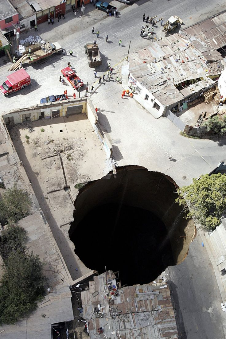 Sinkholes are scary.