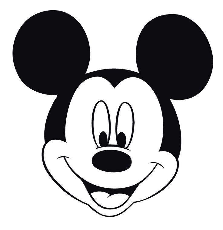 Free Beautiful Of Minnie Mouse Face Template In 2020 Mickey Mouse Silhouette Mickey Mouse Template Mickey Mouse Printables