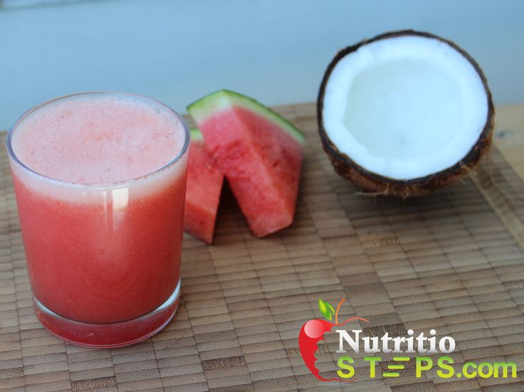 REFRESHING COLORFUL WATERMELON COCONUT WATER