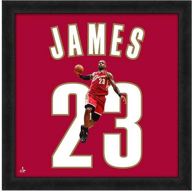 """Lebron James Cleveland Cavaliers Officially Licensed 20"""" x 20"""" Uniframe"""