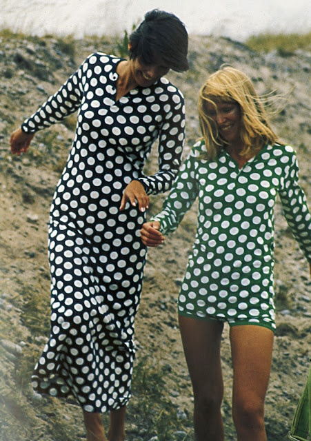 Dots-Vintage Marimekko by Tony Vaccaro for Life Magazine