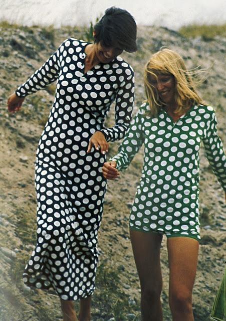 Dots-Vintage Marimekko by Tony Vaccaro for Life Magazine