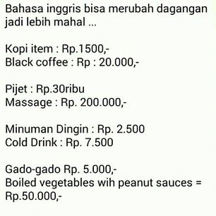 bahasa inggris menaikkan harga jual :p