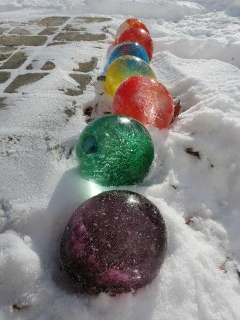 Make Colorful Ice Balloons