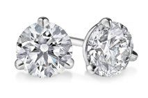 Round Three-Prong Martini Diamond Stud Earrings | Click for your chance to win a $1000 gift card from #Ritani
