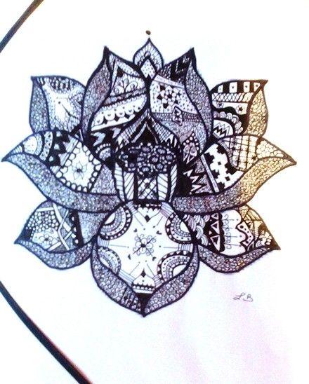 17 best images about mes dessins et photo on pinterest reunions imagination and lotus - Fleur de lotus dessin ...