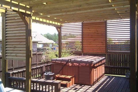 17 Best Images About Hot Tub Privacy Spa Enclosures On