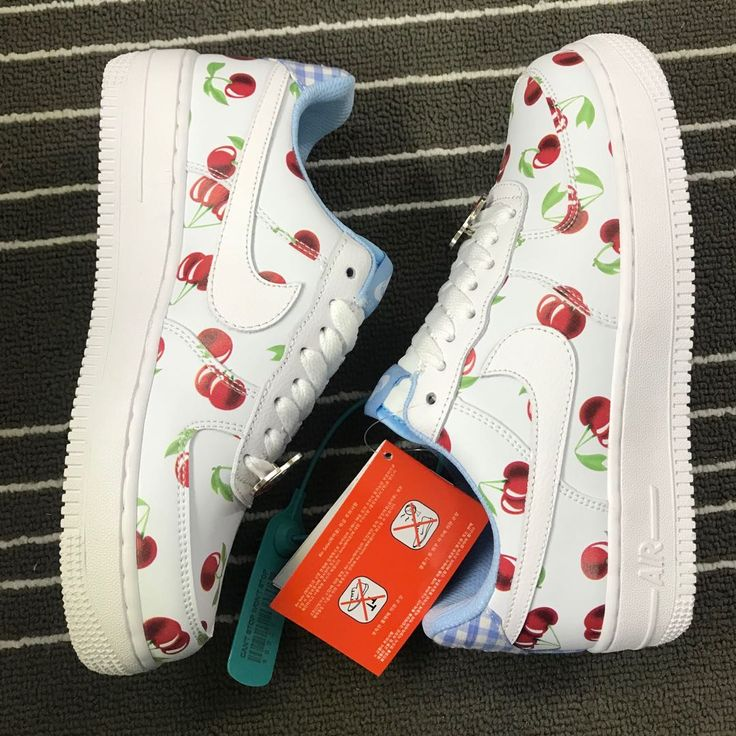 """Buy Nike Air Force 1 Low GS """"Cherry"""" White/University Blue"""