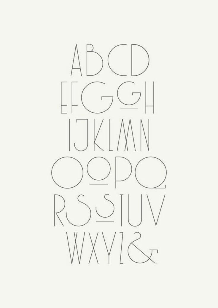 Schöner Typografie-Alphabet-Entwurf (26) – #Schö…