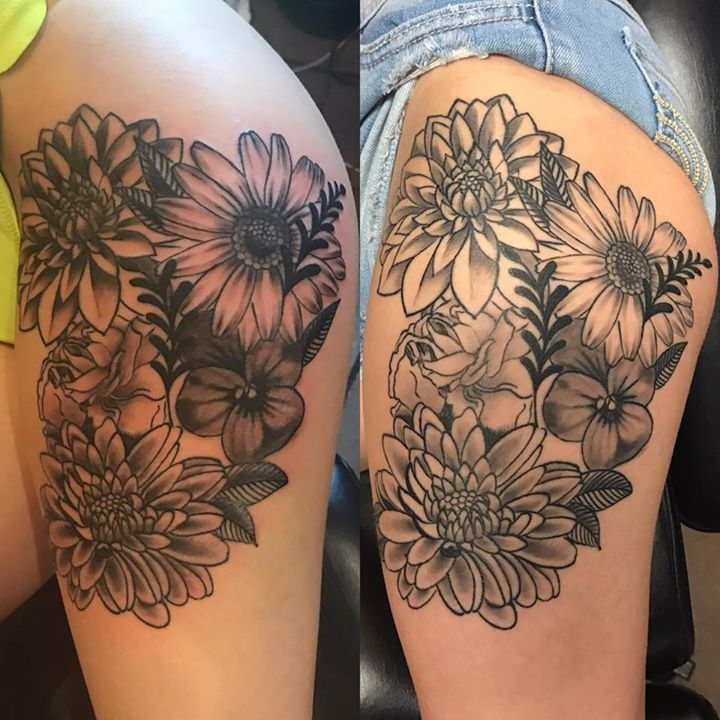 Birth Flower Tattoos: Healed Tattoo By Hanalei From Iconic Tattoo & Piercing