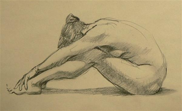 Life Drawing Sketches - Chris E - Charcoal