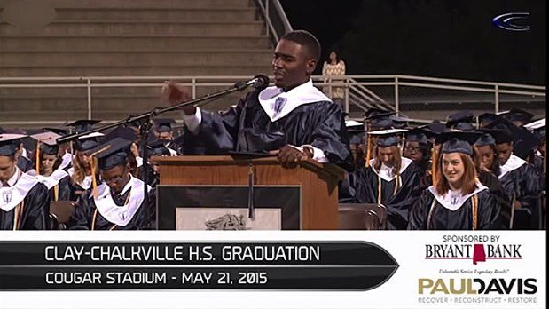The Jefferson County Board of Education honored a student from Clay-Chalkville High School for a prayer he led during his graduation.