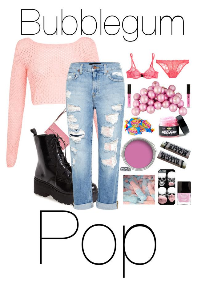 Bubblegum Pop by taylor0016 on Polyvore featuring polyvore, fashion, style, Miss Selfridge, Genetic Denim, Deborah Marquit, Agent Provocateur, Jeffrey Campbell, Valentino, River Island, Butter London and clothing