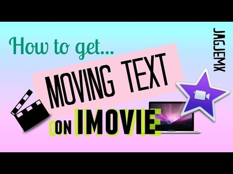 how to add text to imovie youtube