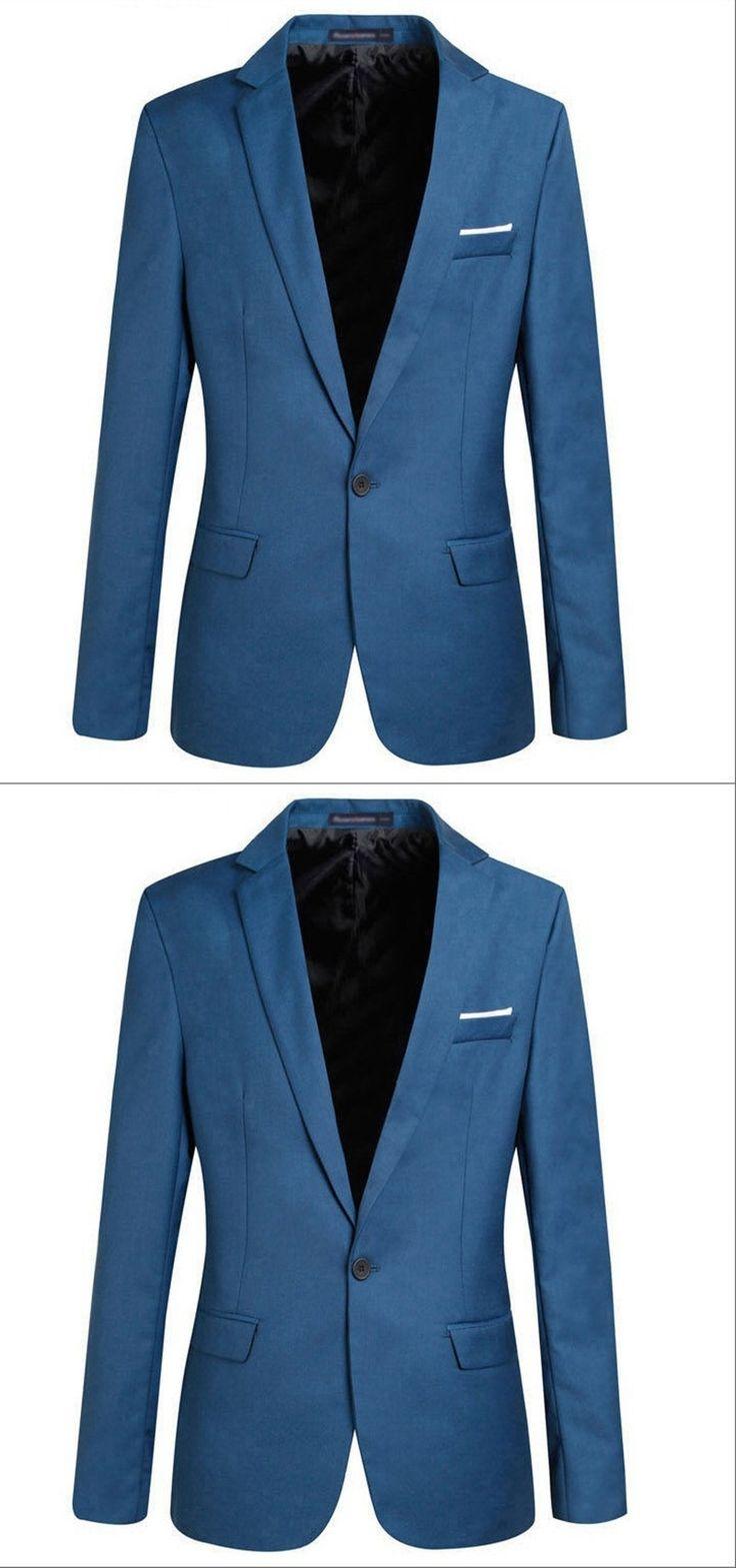 New HOT 2017 Suit Jacket For Men Terno Masculino Suit Blazers Jackets Traje Hombre Men's Casual Blazer 2 Colors Size S-XXL