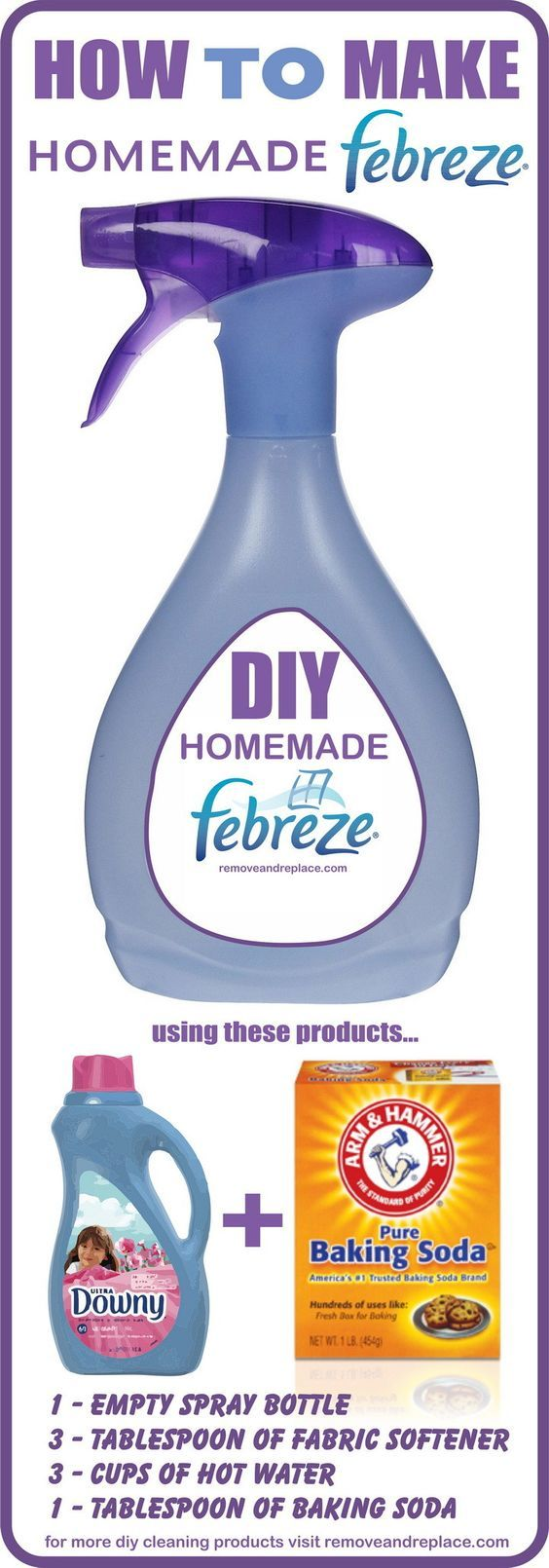 how to make homemade febrezehow to make your own febreze ( downy fabric softener downy fabric softener & baking soda