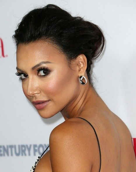 Naya Rivera Long Hairstyles: Quick Updo