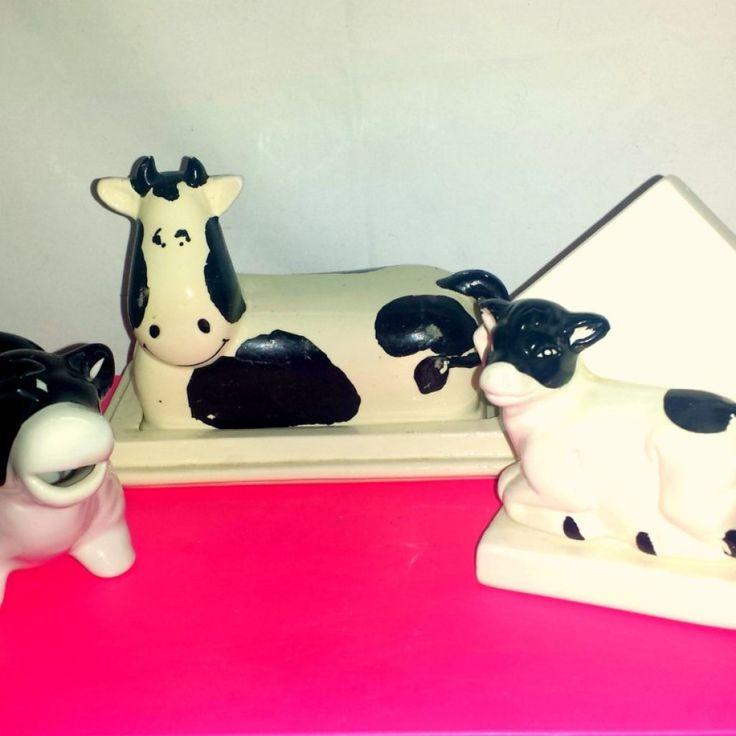 Vintage Cow Kitchen Decor