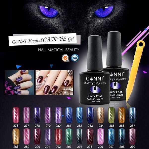 Nailart CANNI 24 Farbe Katze Augen Gelpoliermittel Magnetische LED UV Gel Lack Lack Nagel Tipps DIY Deco