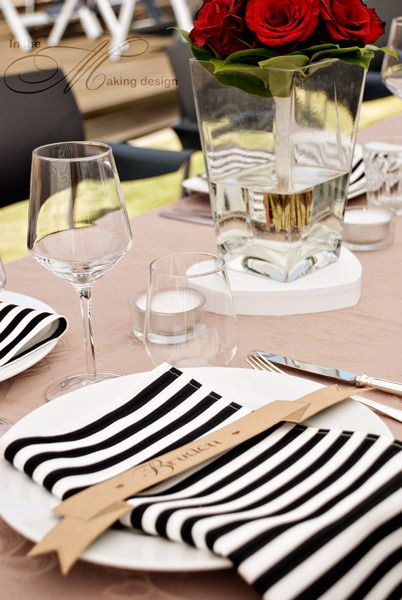 Black And White Party Table Decorations
