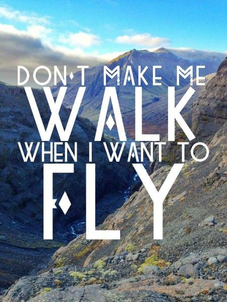 Best Travel Quotes (in Photos!): Don't make me walk when I want to fly // Iceland