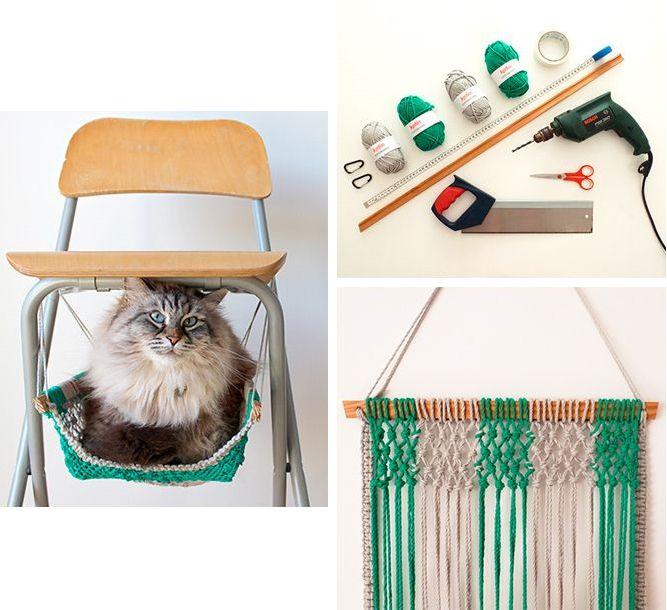 Делаем дом для кошки своими руками: виды, материалы, инструкции и 50 фото с идеями http://happymodern.ru/dom-dlya-koshki-svoimi-rukami/ Делаем сами гамак для кота