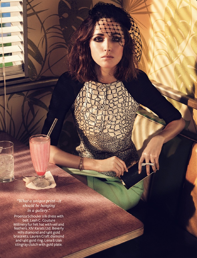 Rose Byrne for InStyle.