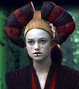 [Picture: Sabé in Queen Amidala's battledress]    After many small roles in television Keira was cast as Sabé, Padmé Amidala's decoy, in the 1999 science fiction blockbuster Star Wars: Episode I The Phantom Menace.     Knightley was cast in the role due to her close resemblance to Natalie Portman, who played Padmé; the two actresses' mothers had difficulty telling their daughters apart when the girls were in full makeup.