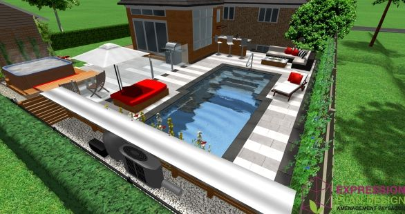 Am nagement d 39 une piscine creus piscine amenagement for Piscine creuse