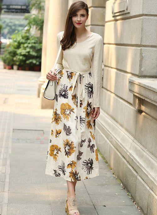 Lange kleider langen armeln