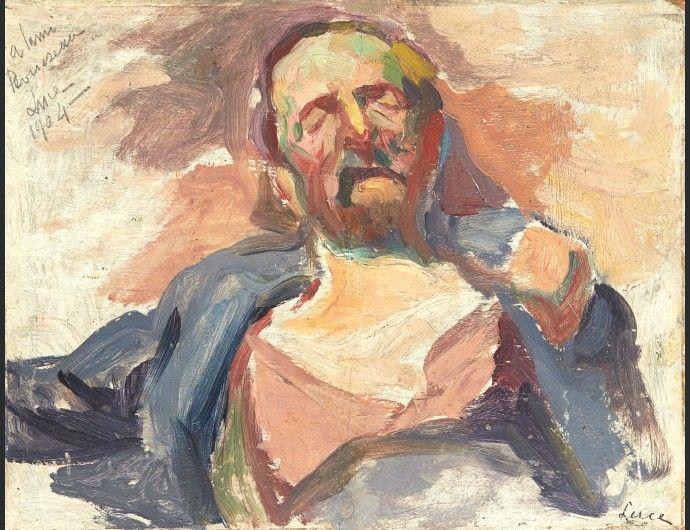 Maximilien LUCE (1858-1941), Portrait d'homme endormi, 1904