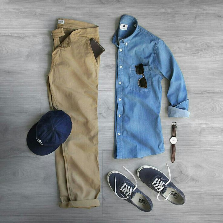 Shirt and slacks look dope in this; though, I'd lean more towards jeans instead of the chinos.