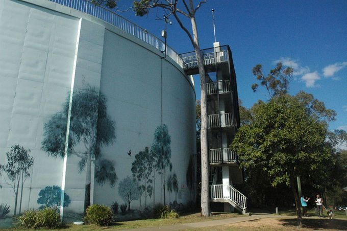 Denmark Hill Conservation Park Ipswich - lookout, mining relics & fossil history