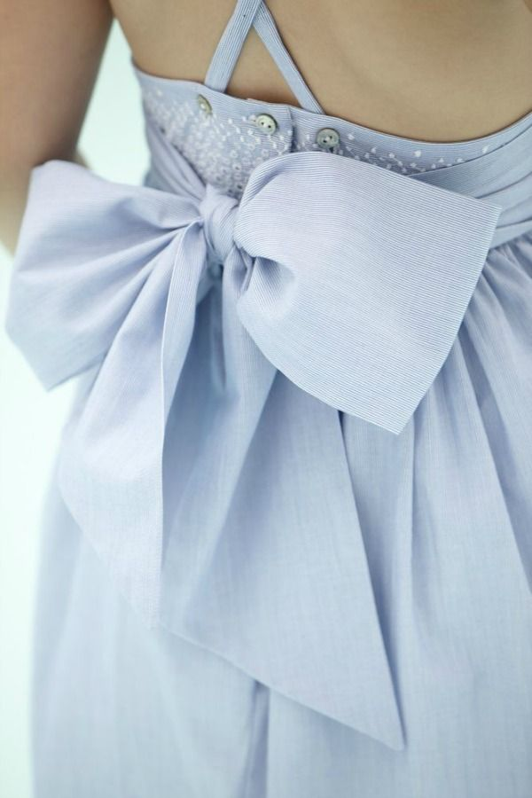 Periwinkle bow.