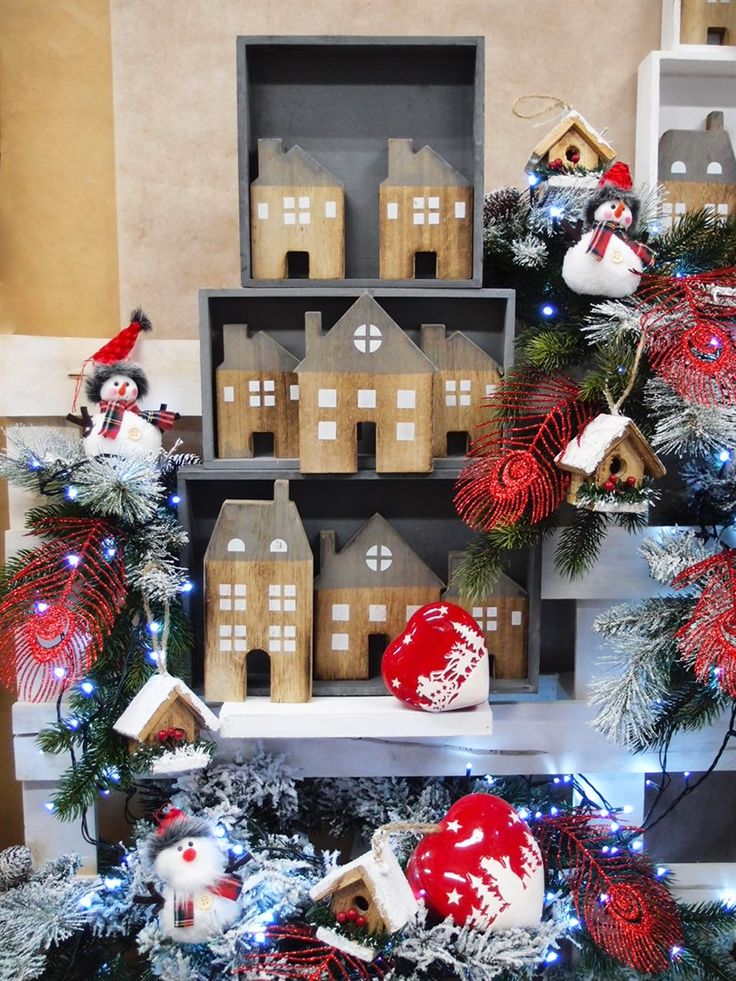 60 fantastiche immagini su natale creazioni allestimenti - Decorazioni natalizie con il legno ...