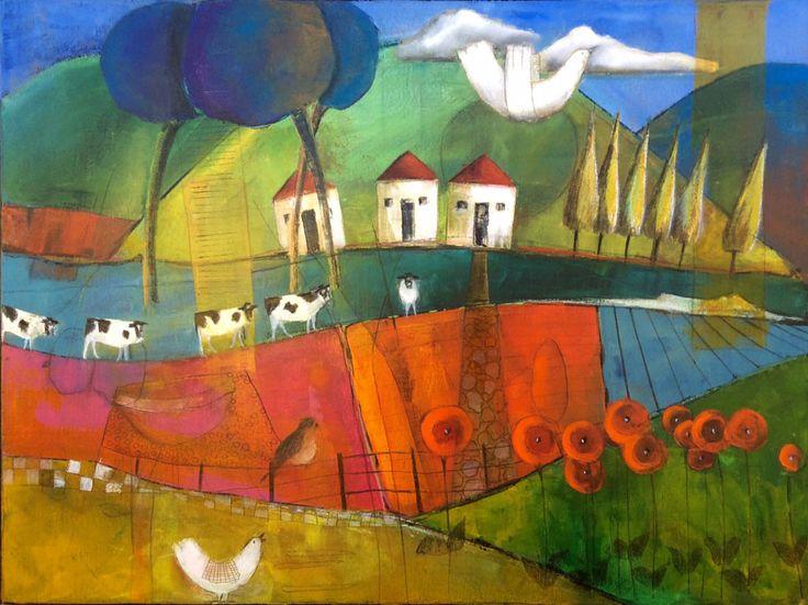 Flowers on the Way Home - Dalene Meiring.  Parnell Gallery Artist.  http://www.parnellgallery.co.nz/artists/dalene-meiring/