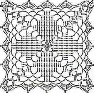 Ivelise Feito à Mão: Square Em Crochê