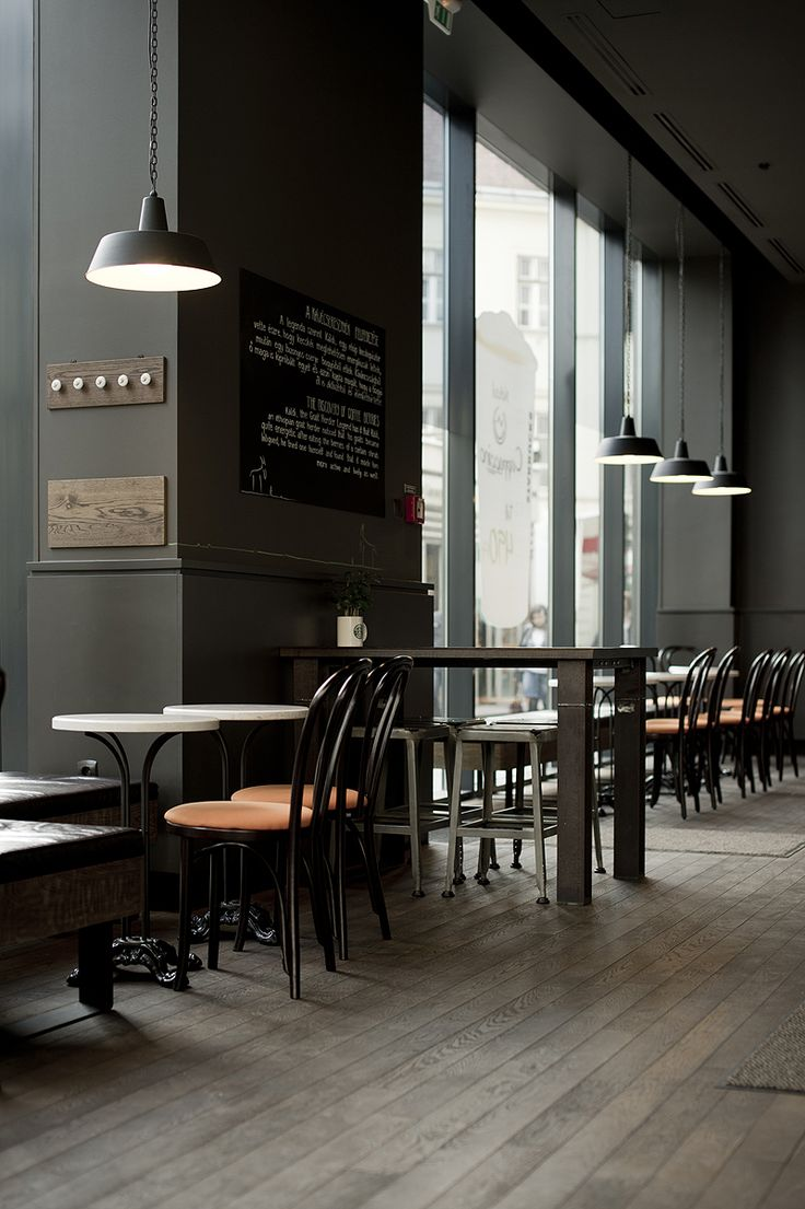 This cafe looks very modernized with it's more modern looking feel, colour, and furniture. The amount of natural light also helps add to the modern look.