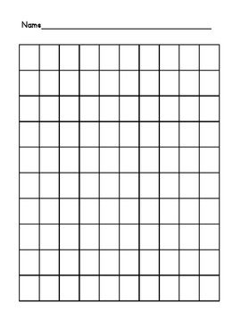 This is a basic 100-square grid to use for number games or simply to assess your students to see how far they can write their numbers. The second page is a filled 100 chart to use for number practice, games, the possibilities are endless!