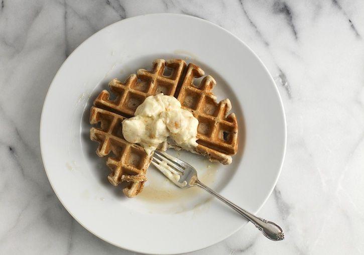 Saffron Waffles with Orange Cream | Recipe | Waffles, Orange and Cream