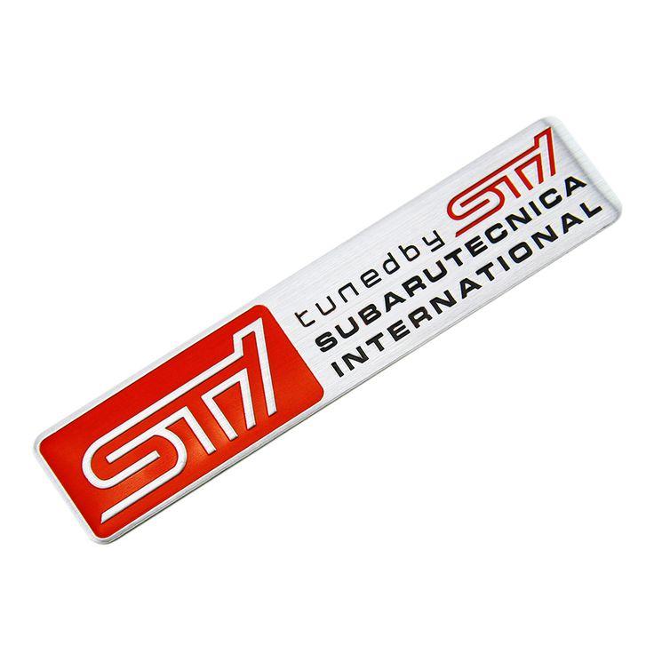 Metal Car Styling STI Sticker Car Door Tail Decal STI Emblem Badge for SUBARU LEGACY Forester Outback Rally WRX WRC XV Impreza