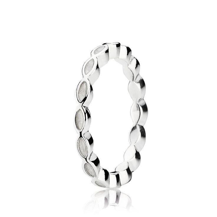 White Enamel & Silver Ring - PANDORA - PANDORA Australia eSTORE |