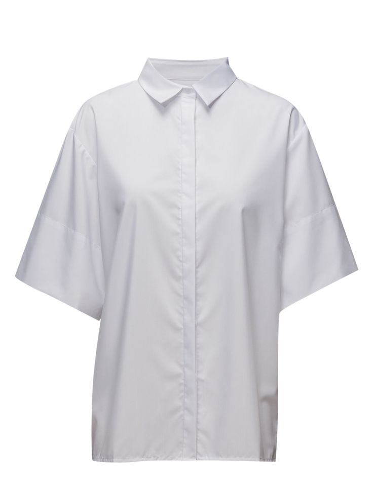 DAY - 2ND Py Concealed button closure Point collar Elegant sophistication with a modern twist White Shirt