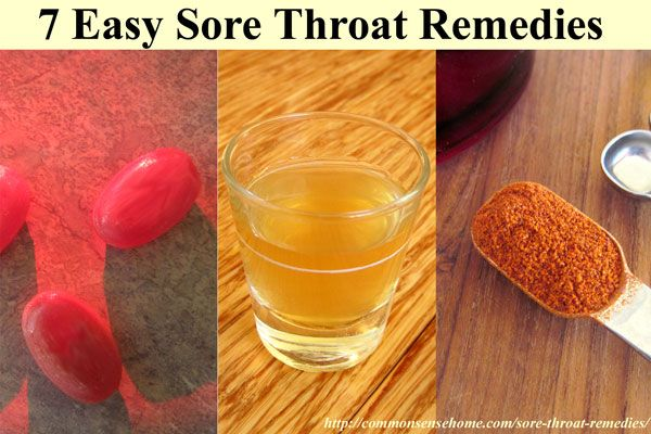Sore throat remedies don't have to come from the drugstore - quick and easy relief may be right in your pantry. 7 Home remedies for sore throat pain.